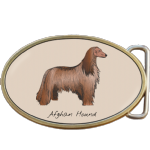 Afghan Hound Dog Belt Buckle. Code A0065